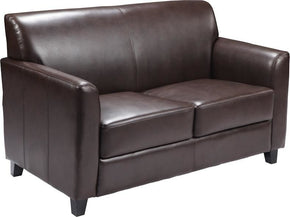 Diplomat Series Brown Leather Loveseat