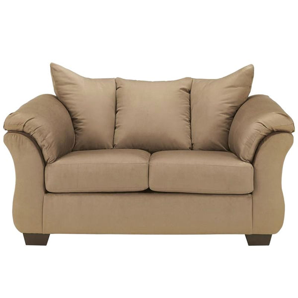 Signature Design By Ashley Darcy Loveseat In Stone Fabric Mocha
