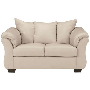Signature Design By Ashley Darcy Loveseat In Stone Fabric