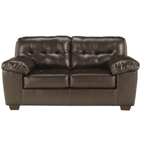 Signature Design By Ashley Alliston Loveseat In Salsa Durablend Chocolate