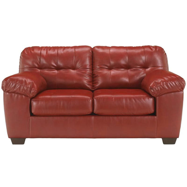 Signature Design By Ashley Alliston Loveseat In Salsa Durablend Red