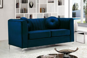 Loveseats - Meridian 612Navy-L Isabelle Navy Velvet Loveseat | 647899945199 | Only $809.80. Buy today at http://www.contemporaryfurniturewarehouse.com