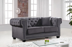 Bowery Grey Velvet Loveseat
