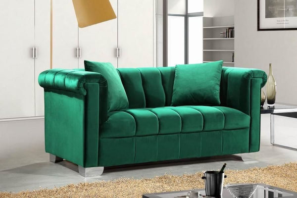 Kayla Green Velvet Loveseat