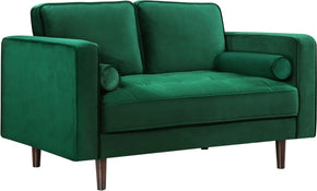Loveseats - Meridian 625Green-L Emily Green Velvet Loveseat | 647899946691 | Only $664.80. Buy today at http://www.contemporaryfurniturewarehouse.com