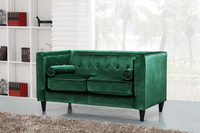 Taylor Green Velvet Loveseat