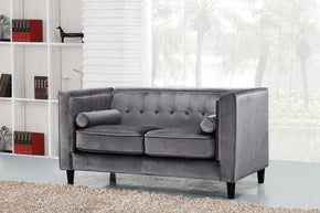 Taylor Grey Velvet Loveseat