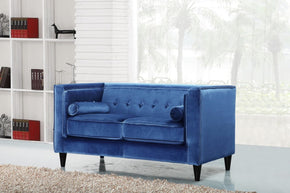 Taylor Light Blue Velvet Loveseat