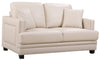 Ferrara Beige Leather Loveseat