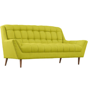 Response Upholstered Fabric Loveseat Wheatgrass