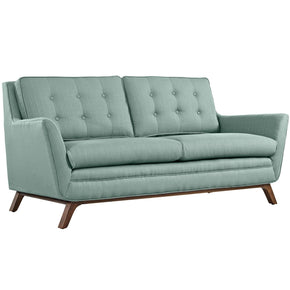 Beguile Upholstered Fabric Loveseat Laguna