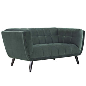 Bestow Velvet Loveseat Green