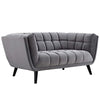 Bestow Velvet Loveseat Gray