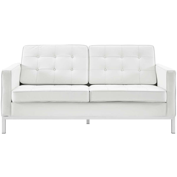 Loft Leather Loveseat