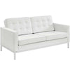 Loft Leather Loveseat White