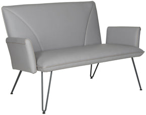 Johannes Settee Grey Loveseat