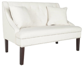 Zoey Linen Settee Cream Loveseat