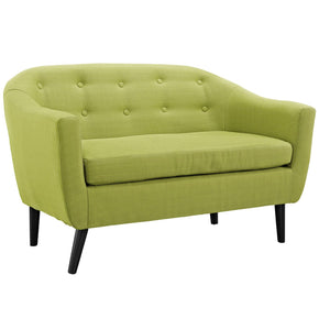 Loveseats - Modway EEI-1391-WHE Wit Upholstered Loveseat | 848387027919 | Only $418.50. Buy today at http://www.contemporaryfurniturewarehouse.com