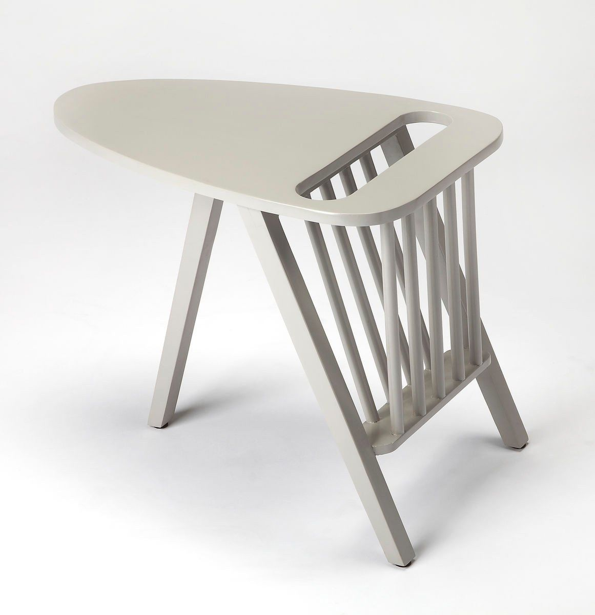 . Buy Butler Furniture BUT 1188266 Lowery Modern Triangular Magazine Table  Gray at Contemporary Furniture Warehouse