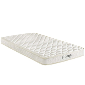 Emma 6 Twin Mattress White