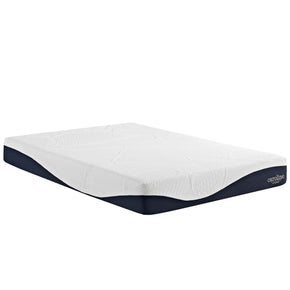 Caroline 10 King Memory Foam Mattress White