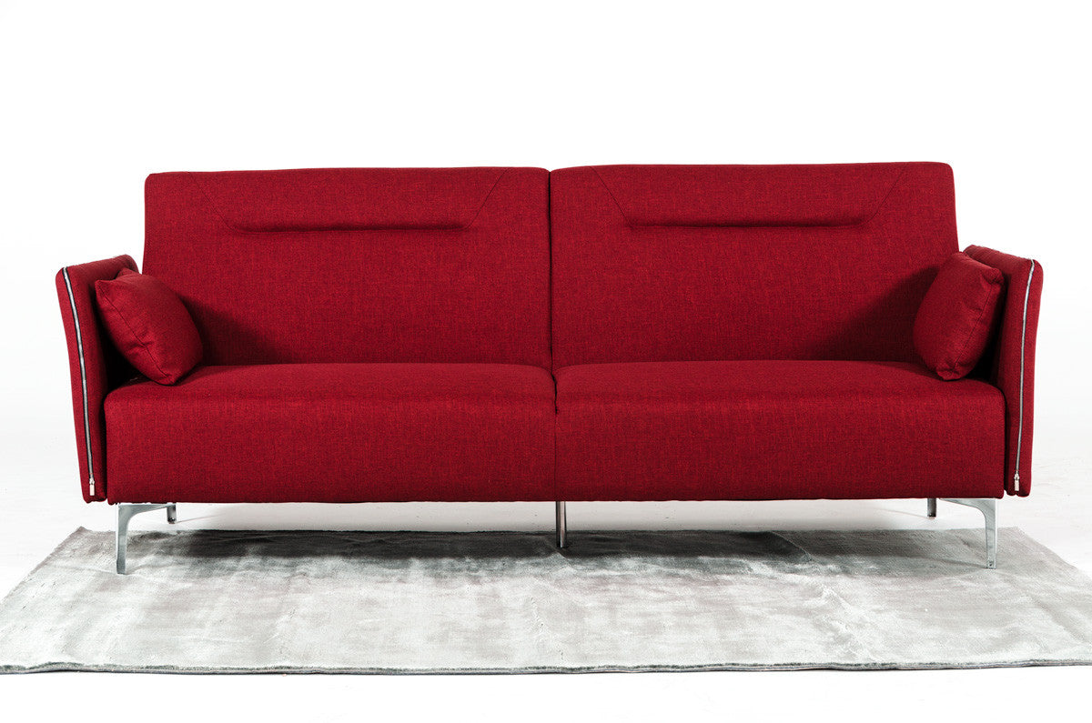 Vig Furniture VGMB1365 Divani Casa Davenport Mid-Century Modern Red Fabric  Sofa Bed sale at Contemporary Furniture Warehouse. Today only.