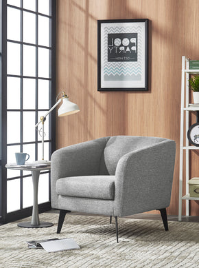 Vig Furniture VGMB-1821-LTGRY Divani Casa Bannack Modern Light Grey Fabric Lounge Chair