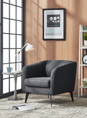 Vig Furniture VGMB-1821-DKGRY Divani Casa Bannack Modern Dark Grey Fabric Lounge Chair
