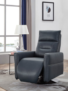 Vig Furniture VGMB-R079-BLU Divani Casa Nashua Modern Blue Leatherette Recliner Chair