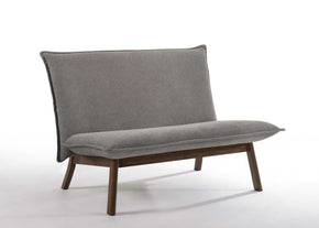 Vig Furniture VGMAMI-783-GRY Modrest Gardner Modern Grey & Walnut Loveseat