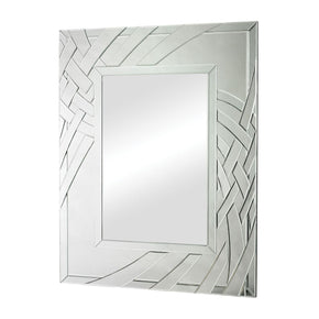 Arched Ribbons Beveled Edge Mirror Clear