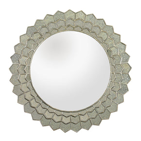 Antique Sunflower Wall Mirror Silver / Clear