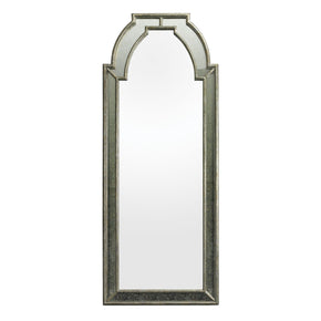 Arched Wall Mirror Antique Silver / Clear