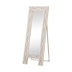 Albiera Dressing Mirror Natural Linen,driftwood Grey