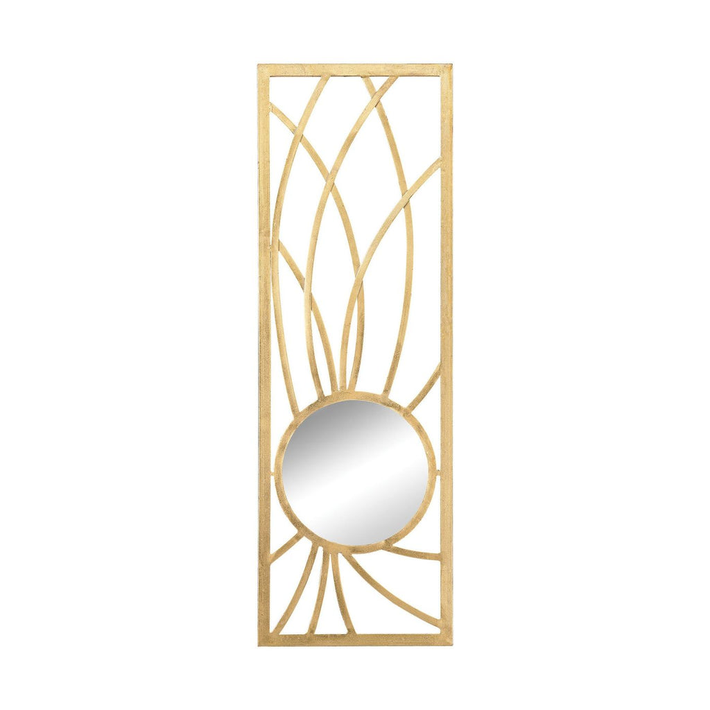 Elan Metal Frame Wall Mirror In Gold