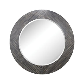 Blackwall Wood Framed Wall Mirror In Black Ash