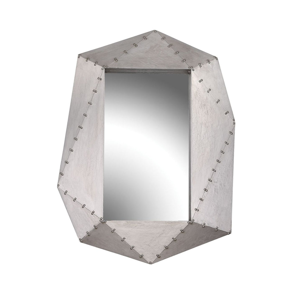 Mirrors - Elk Group ELK-351-10250 Hedron Industrial Style Wall Mirror German Silver | 843558151462 | Only $228.00. Buy today at http://www.contemporaryfurniturewarehouse.com