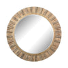 Oversized Round Wood Mirror Natural Drift