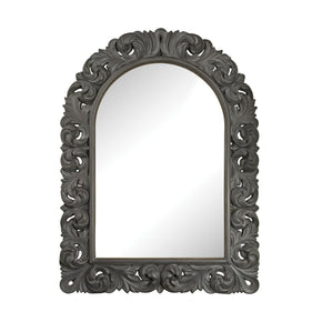 Arched Scroll Mirror Black Ash