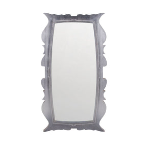 Annie Silver Leaf 58-Inch Mahogany And Glass Wall Mirror