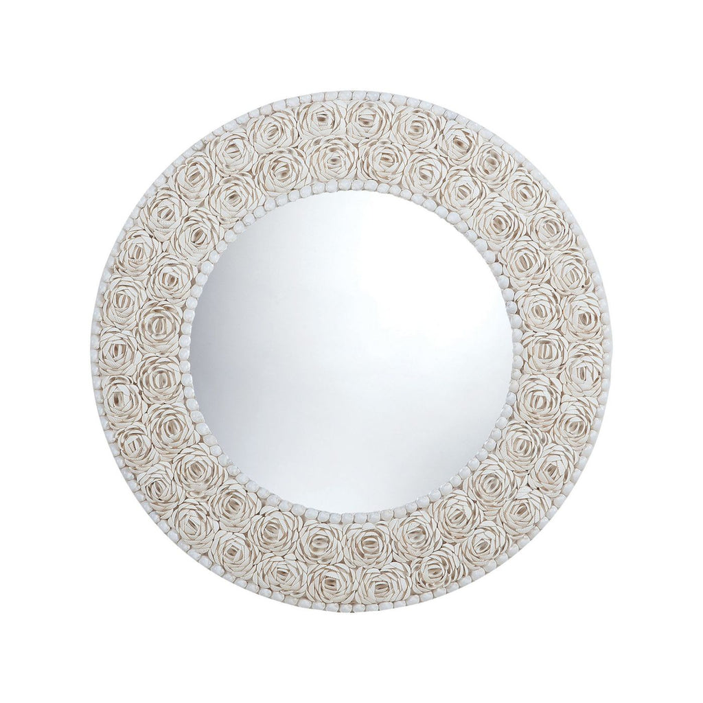Mirrors - Elk Group ELK-7163-047 Floral Pattern Clam Shell Framed Mirror Natural | 818008023682 | Only $307.80. Buy today at http://www.contemporaryfurniturewarehouse.com