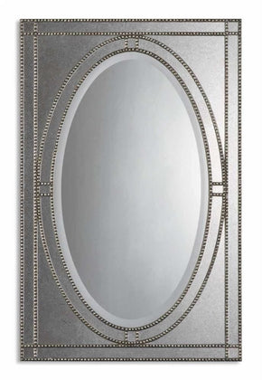Mirrors - Uttermost UTT-08055 B Earnestine Antique Silver Mirror | 792977856284 | Only $371.80. Buy today at http://www.contemporaryfurniturewarehouse.com