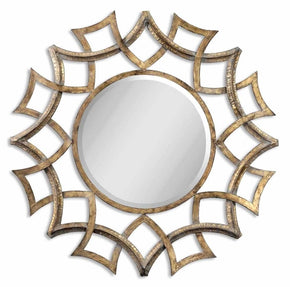 Mirrors - Uttermost UTT-12730 B Demarco Round Antique Gold Mirror | 792977127308 | Only $415.80. Buy today at http://www.contemporaryfurniturewarehouse.com