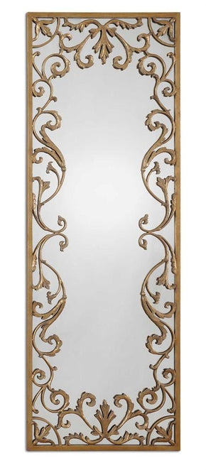 Apricena Decorative Gold Mirror