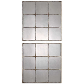 Derowen Squares Antique Mirrors S/2 Mirror