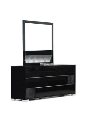 Mirrors - Vig Furniture VGACGRACE-MIR-BLK Modrest Grace Italian Modern Black Mirror | 840729137959 | Only $349.80. Buy today at http://www.contemporaryfurniturewarehouse.com