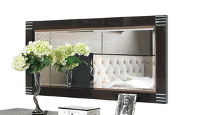 A&x Bellagio Pearl Wood Rectangular Mirror