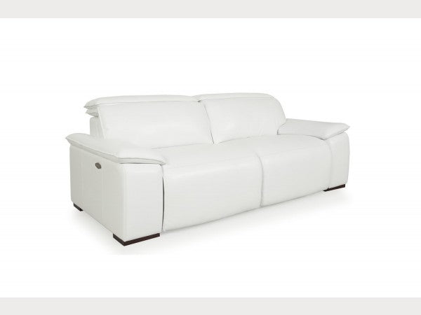 Miraculous Buy Moroni 56837D2031 Yorbita Motorized Sofa Pure White Full Leather At Contemporary Furniture Warehouse Lamtechconsult Wood Chair Design Ideas Lamtechconsultcom