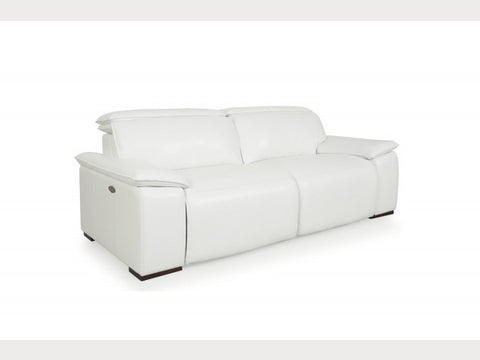Sofas - Moroni 56837D2031 Yorbita motorized sofa pure white full leather | Only $4268.00. Buy today at http://www.contemporaryfurniturewarehouse.com