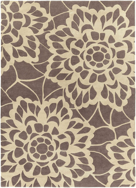 Lace Floral And Paisley Area Rug Gray